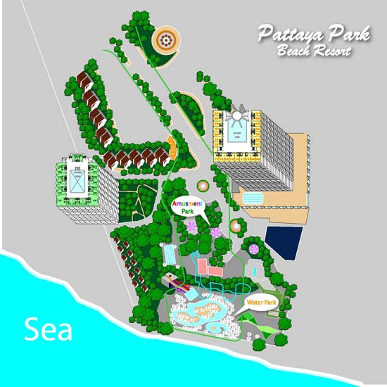 Карта Pattaya Park