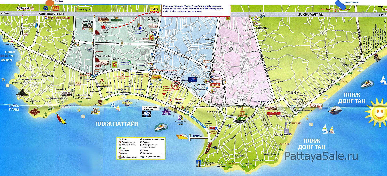 Карта Паттайи №4