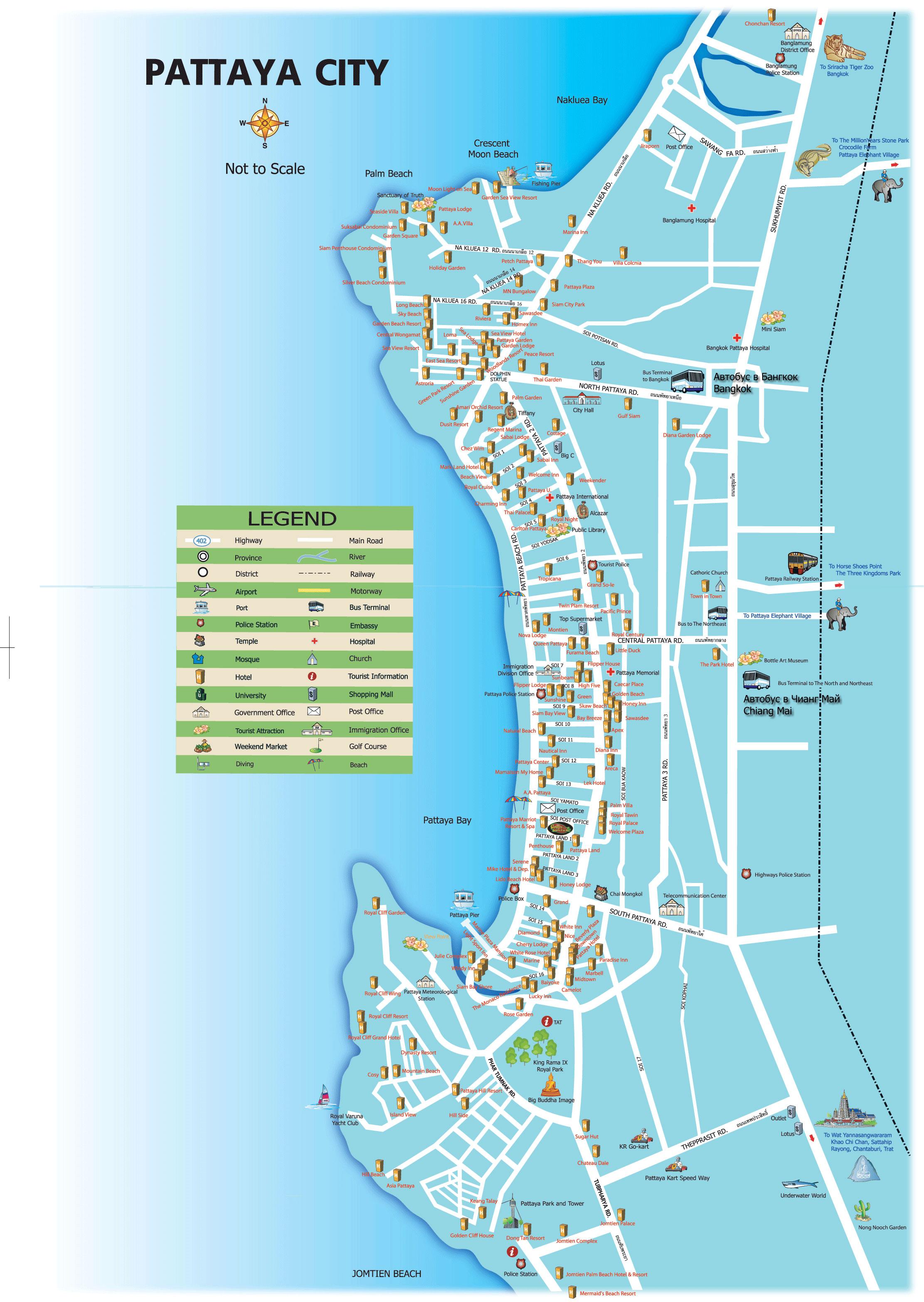 Карта Паттайи №10