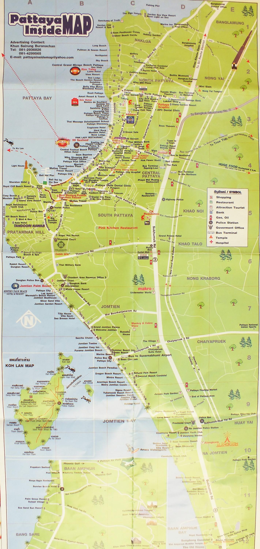 Карта Паттайи №14