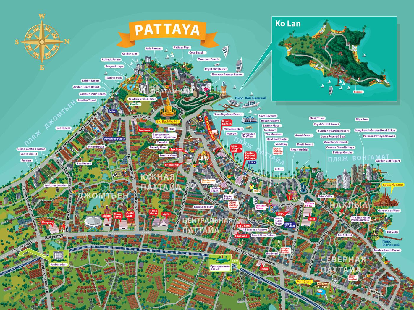 Карта Паттайи №15