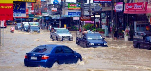 Дождь и наводнение в Паттайе!