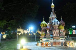 Храм Василия Блаженного (ночная подсветка)