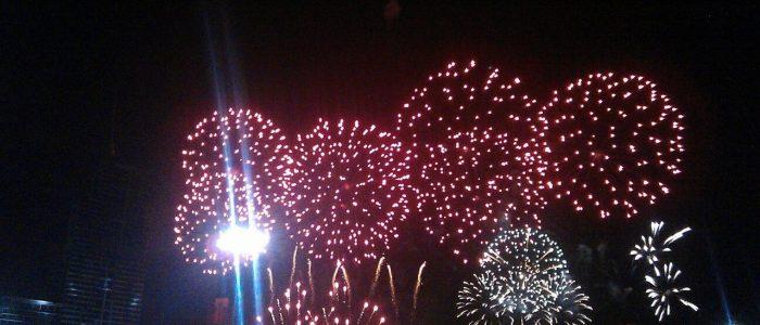 Новогодний салют в Паттайе