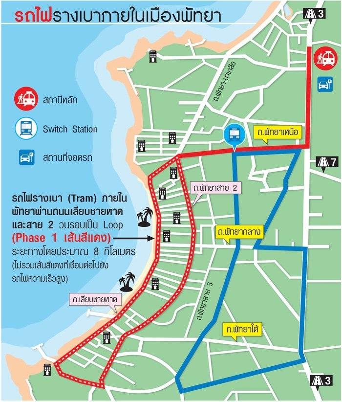 В Паттайе планируется построить две трамвайных линии