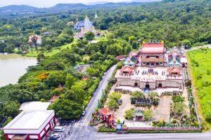 Храм Вихарнра Сиен с высоты птичьего полета
