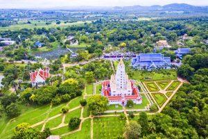 Храм Ват Янсангварарам с высоты