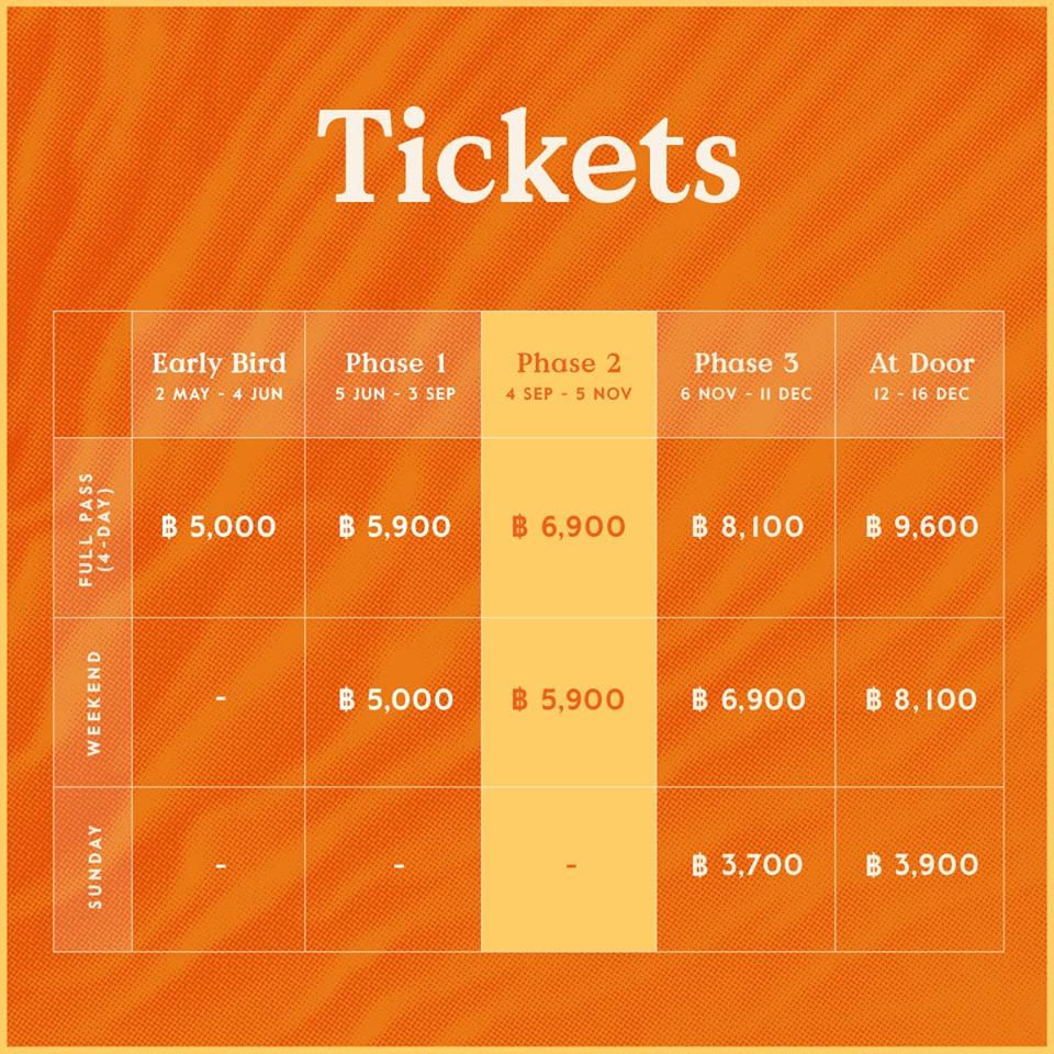 Билеты на фестиваль Wonderfruit Festival